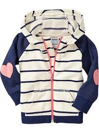 Striped Applique Hoodies for Baby