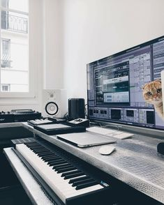 A fresh studio running Ableton Live. By @onyvaa #musicstudio #musicproducer
