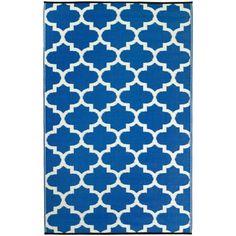 Tangier outdoor rug blue. Shop now at www.hardtofind.com.au
