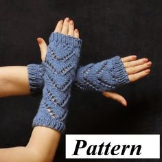 knitted fingerless glove pattern