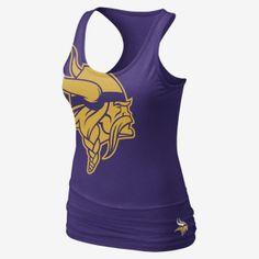 Nike Big Logo Tri-Blend (NFL Vikings) Women's Tank Top @Jaime Bachmann