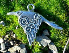 Corvus Celtic Crow Pewter Talisman - Ironside