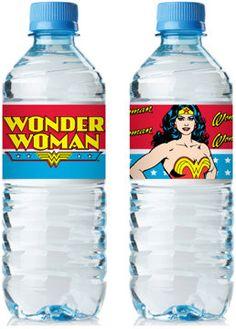 Launch Party: Wonder Woman Bottle Wrap PDF file by freaknsweet on Etsy, $3.00