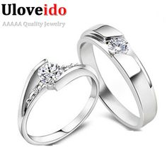 Find More Rings Information about Romantic Wedding Engagement Couple Silver Rings For Lovers Men Women CZ Diamond Cheap Jewelry Gift Anel Delicado Wholesale J059,High Quality ring storage,China ring scarf Suppliers, Cheap ring friends from Ulovestore Jewelry on Aliexpress.com