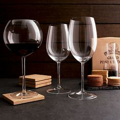 Vineyard 25 oz. Cabernet Wine Glass in Wine Glasses | Crate and Barrel