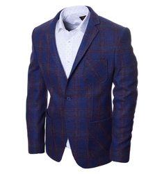 Синий пиджак в клетку по супер выгодной цене 6993 руб, с бесплатной доставкой по Москве и России без предоплаты. В наличие размеры 54, приезжайте к нам в магазин!