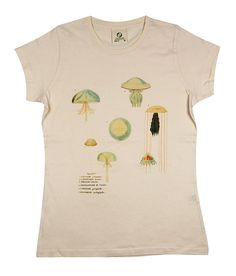 Organic T-shirt with Jellyfish by LFOTS on Etsy