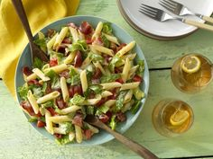 INGREDIENTS  Ingredients for 6 people  1 Box, Gluten Free Penne  1 Tbsp, Extra virgin olive oil  1 ½ Cup, Ranch Dressing  10 Slices, bacon chopped  1 Head, Romaine chopped  3 Roma Tomatoes, diced  Salt and pepper to taste