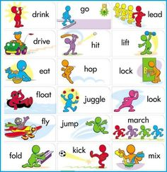 learning what verbs are and examples with pictures | Englanti | Pinterest | English grammar ...