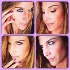 Neon violet Makeup
