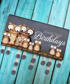 DIY Wooden Perpetual Birthday Reminder Calendar Board Wall Hanging for Family /& Friends /& Classroom,Arts and Crafts Wedding Party for Mr and Mrs Khaki, B