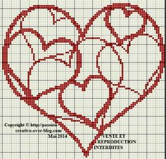 Ravelry: Medieval Heart Chart pattern by Crystal Guistinello Cross Stitching, Cross Stitch Embroidery, Cross Stitch Designs, Cross Stitch Patterns, Cross Stitch Heart, Fuse Beads, Knitting Charts, Crochet Chart, Heart Patterns