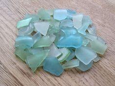 Bulk Sea Glass Beach Decor Seafoam Green Light by TidesTreasures,