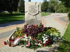 """A """"Tchorek plaque"""" on Wolska Street in the Wola district of Warsaw. The Germans murdered 4000 people here during the Wola massacre...."""