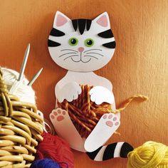 Katze mit Wole