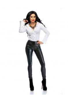 Seeing the beauty in transwomen and elegant leather and latex Ask me anything Archive / RSS Black Leather Pants, Leather Trousers, Leather Jacket, White Shirt Outfits, White Shirts, Hands On Hips, Passion For Fashion, Womens Fashion, How To Wear