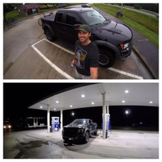 Black Ford SVT Raptor F-150 Truck Road trip