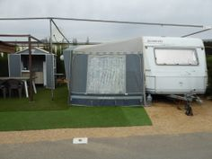 Touring Caravan & Awning For Sale On Camping Benisol Campsite In Benidorm, Costa Blanca, Spain. £5,500 | Benidorm Caravan Sales Touring Caravans For Sale, Caravan Awnings, Mobile Homes For Sale, Beautiful Pools, Heated Pool, New Beds, Double Beds, Sale On, Campsite