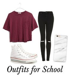 """Outfits for School"" by alyssa-89 on Polyvore featuring Topshop, Madewell and Converse"