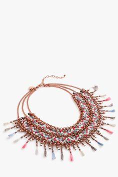 Collar étnico borlas - collares | Adolfo Dominguez shop online