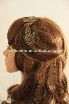 Punk leaf hair band,hair accessories for women