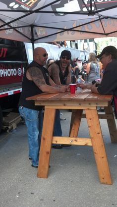 Danny and Kevin from Counting Cars - Sturgis bike rally 2013 outside the Knuckle Saloon