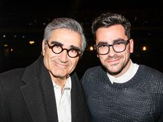 Eugene levy and his son Daniel Eugene Levy, Daniel Levy, David Rose, Celebrity Skin, Schitts Creek, Dapper Men, Perfect World, Best Tv Shows, Celebs