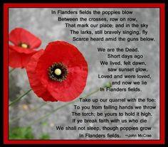 Remem Nce Day In Flanders Fields Poem