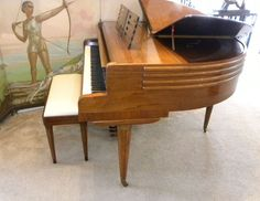 Image detail for -Streamline Art Deco Butterfly Wurlitzer Baby Grand Piano at 1stdibs