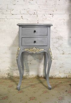 Painted Cottage Chic Shabby Romantic French Night Table NT865