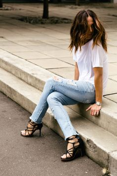Faded Denim and White Tee | Simple Style, Easy Chic