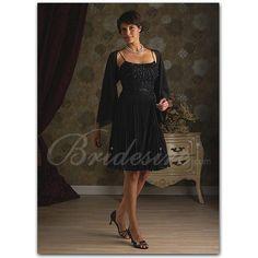 Sheath / Column Spaghetti Sleeveless Knee-length Satin Mother of the Bride Dress with Wrap