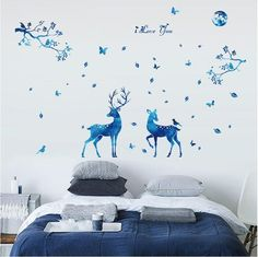 [US$15.99] Miico 3D Creative PVC Wall Stickers Home Decor Mural Art Removable Deer Animal Decor Sticker #miico #creative #wall #stickers #home #decor #mural #removable #deer #animal #sticker