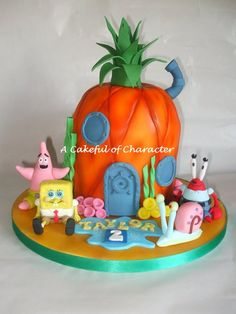 Spongebob Pineapple with Spongebob sugar models