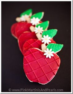Decorated Apple Cookies