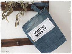 Universaltäschchen - ♥ JEANS Utensilo Krimskrams LIEBLINGSmensch ♥ - ein Designerstück von lavendelherzl bei DaWanda
