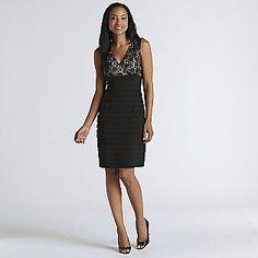 -Women's Lace Top Dress