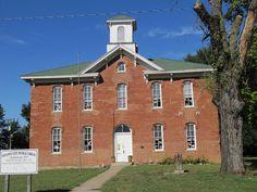 old long-time K-12 school in Prescott, Kansas