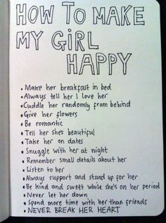 15 Things How To Make My Girl HAPPY
