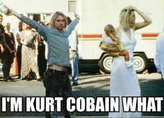 Kurt Cobain and Courtney Love Emo Bands, Rock Bands, Tim Burton, Kurk Cobain, Nirvana Lyrics, Nirvana Logo, Kurt And Courtney, Donald Cobain, Nirvana Kurt Cobain