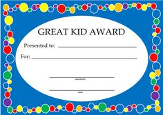 Looking for simple kids awards and certificates? This is a great collection to reward children for learning the basics and/or great behavior. Perfect for child care providers and preschool teachers. Kindergarten Homeschool Curriculum, Preschool Education, Preschool At Home, Preschool Activities, Early Education, Daycare Forms, Kids Daycare, Daycare Crafts, Daycare Ideas