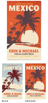 personalized destination wedding save the date magnets -  Love the magnet idea!