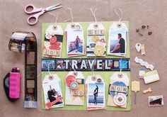 A Beautiful new Travel line called Souvenir from Bo Bunny - Available now at Scrapbook.com!
