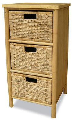 This Bamboo Basket Cabinet Brings Peace And Calm Into Your Space, While Still Easy For Moving Or Temporary Storage. It Is Made Of Solid Bamboo And Woven Water Hyacinth, The Storage Cabinet Offers Organization And Storage In The Form Of Woven Baske Storage Cabinet With Baskets, 5 Drawer Storage, Basket Drawers, Rolling Storage, Drawer Unit, Wood Storage, Hidden Storage, Storage Cabinets, Storage Spaces
