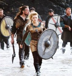 "The ""Shieldmaiden"" was a woman who had chosen to fight as a warrior in Scandinavian folklore and mythology. They are often mentioned in sagas such as Hervarar saga and in Gesta Danorum. Shieldmaidens also appear in stories of other Germanic nations: Goths, Cimbri, and Marcomanni. The mythical Valkyries may have been based on the shieldmaidens."