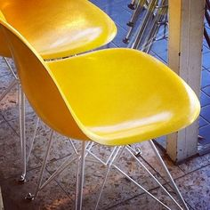 Eames Chair in Yellow. Founded in Cologne.