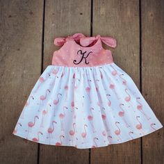 Flamingo dress Beach Dress Summer outfit by ShelbyJaneandCo