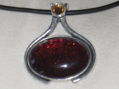 Nail Polish Jewelry Teardrop Pendant OOAK by FeedYourNeedDesigns, $9.99