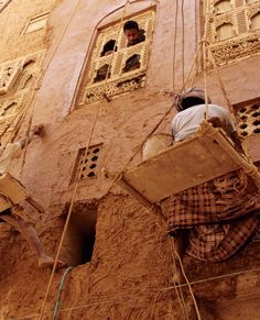 Shibam, Yemen. The entire city is constructed of high rise mud buildings that have been around since the 16th century