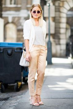 Angelica in London in a COS top, H pants, Topshop bag, and BIK BOK sunnies #streetstyle